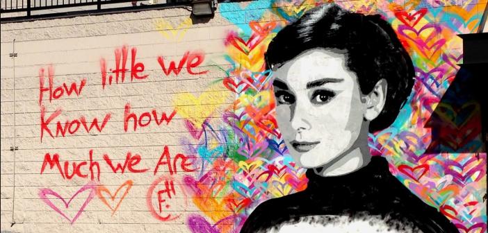 Free Humanity;  Audrey Hepburn Mural